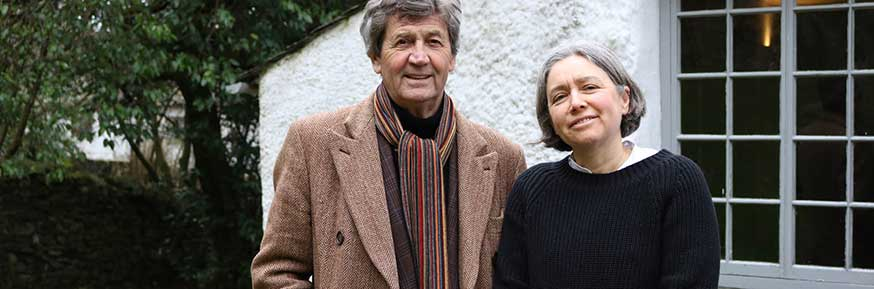 Professor Sally Bushell and Melvyn Bragg