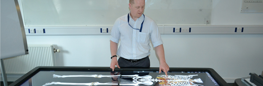 Dr Taylor with the teaching table
