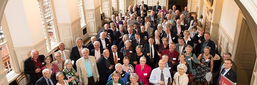 Dozens of the University's first ever graduates gathered for a reunion. Picture by Helen Maybanks.