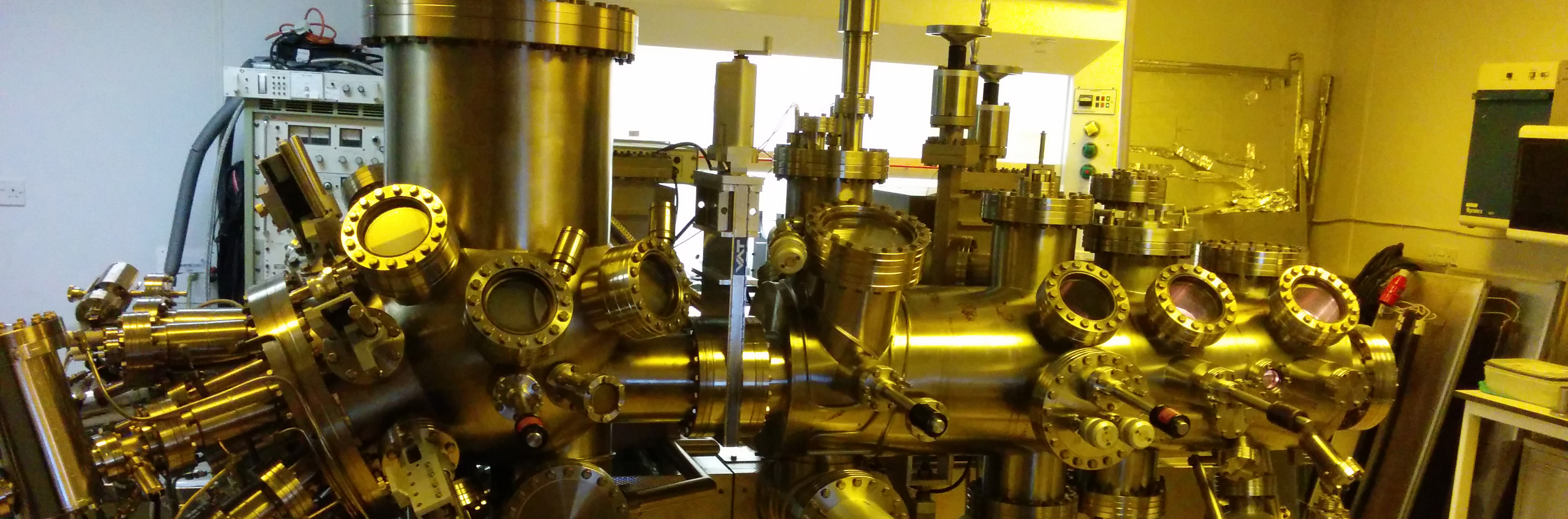 One of the molecular beam epitaxy reactors at Lancaster used to grow quantum rings