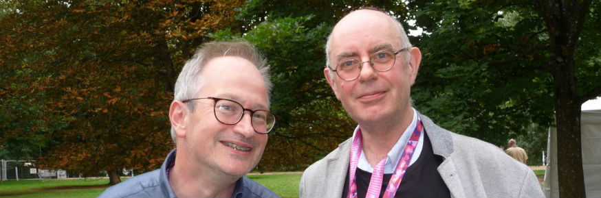 Robin Ince and Professor Roger Jones at Womad Festival
