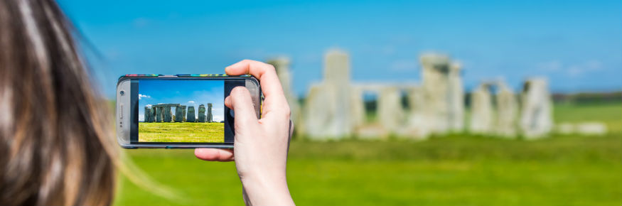 Taking a photograph of stonehenge