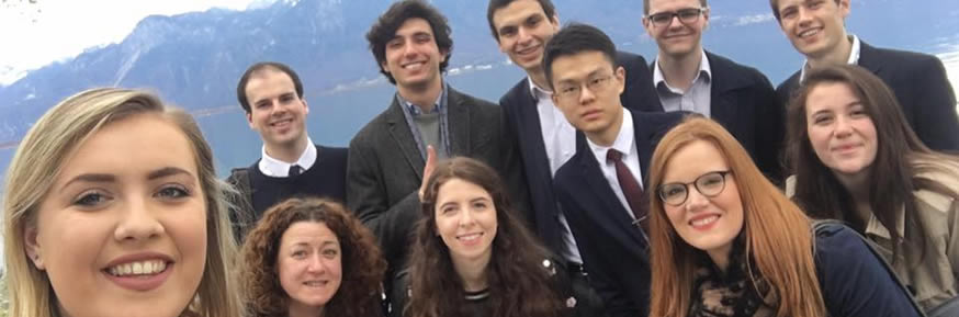 Lancaster University students at staff at WBCSD Montreux meeting, March 2017