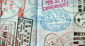 A passport with many stamps