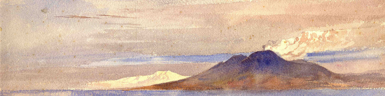Arthur Severn, Vesuvius from the Sea