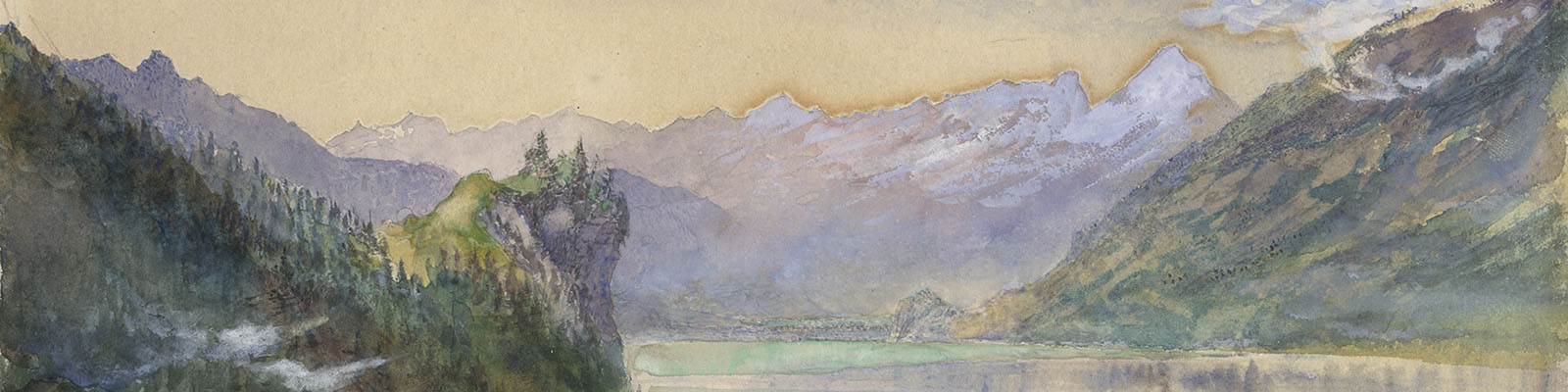 John Ruskin: Lake of Brienz
