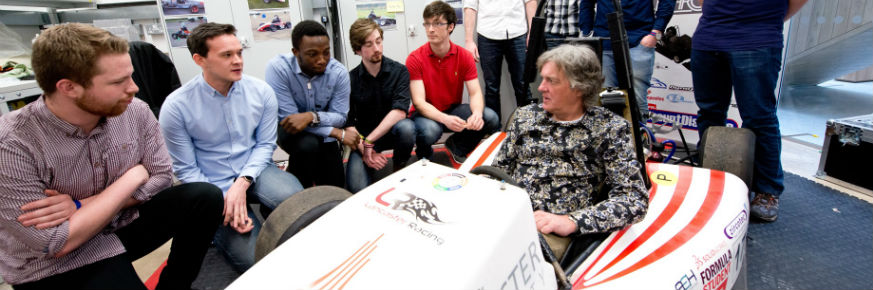 James May's Visit Thrills Lancaster Students -