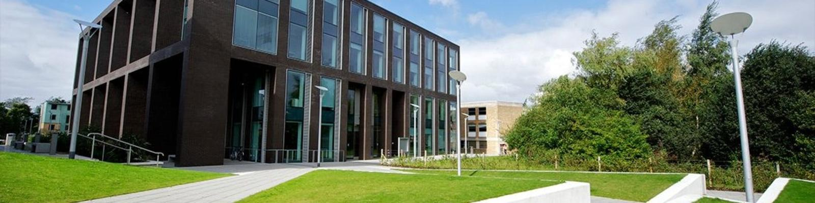 Modern buildings on Lancaster University campus