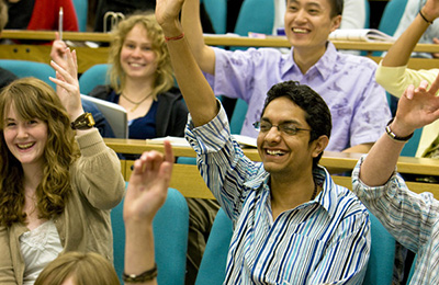 Course and study changes Students in lecture theatre
