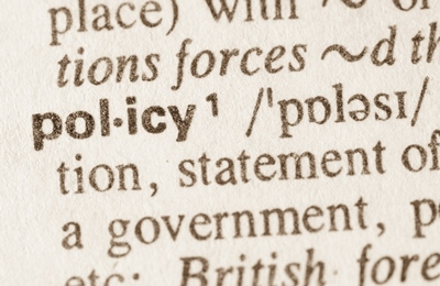 Policies and procedures Policy defined