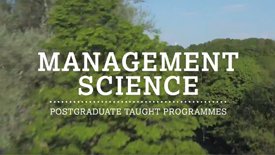Video: Postgraduate Management Science