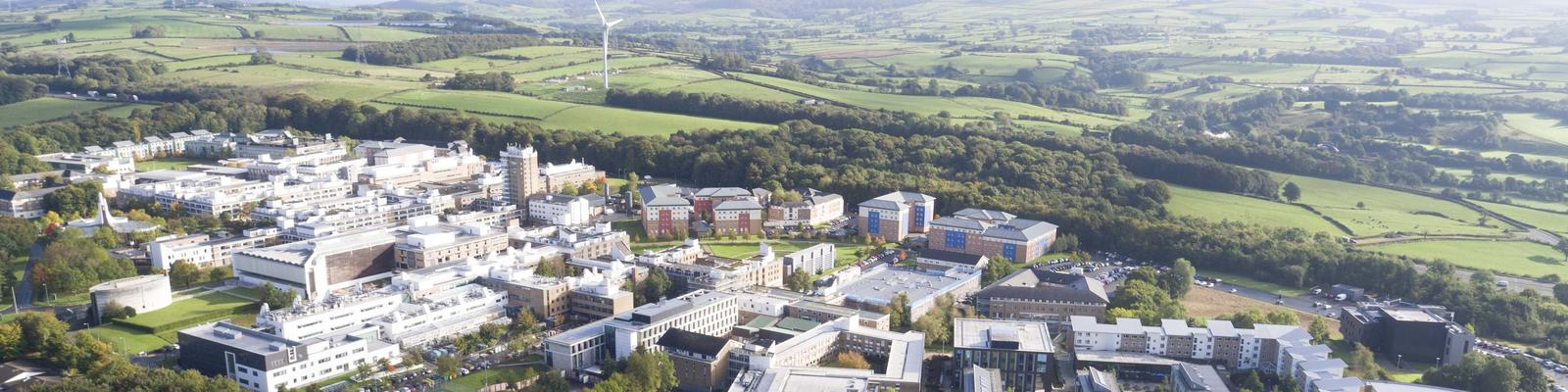 Lancaster University campus from the air