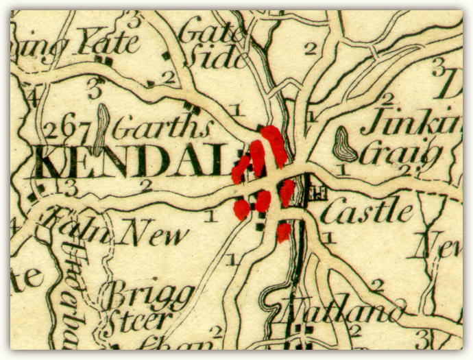 Kendal Early Town Plans