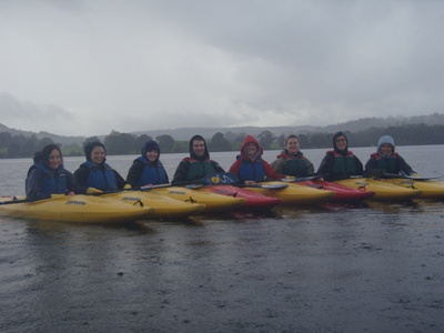 The kayaking group