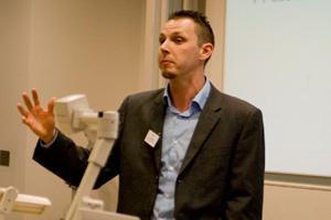Jon Powell presenting